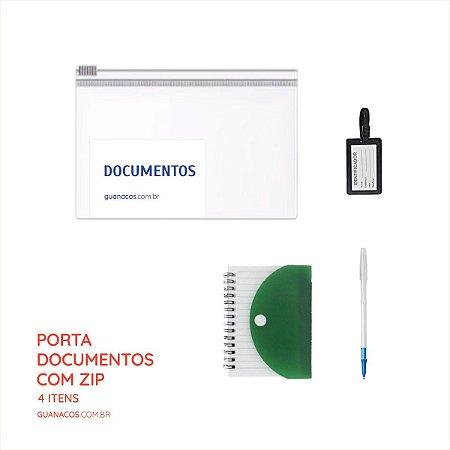 Kit Porta Documentos - 4 itens  - Para mochila de emergência