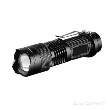 Lanterna Tática Mini Cree com LED Q5 - com sinalizador - Corpo em alumínio