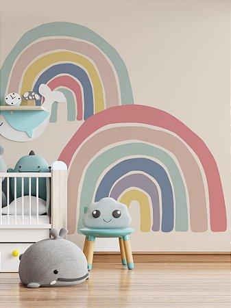 Painel papel de parede adesivo infantil Arco íris