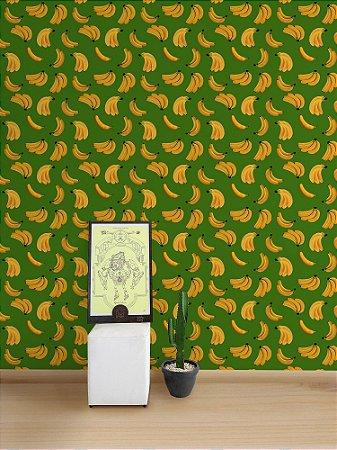 Papel de Parede Adesivo Banana Verde