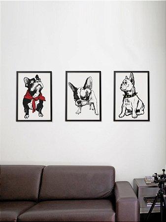 Kit com 3 Posters A3 Bulldog