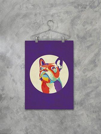 Poster Bulldog Psicodélico