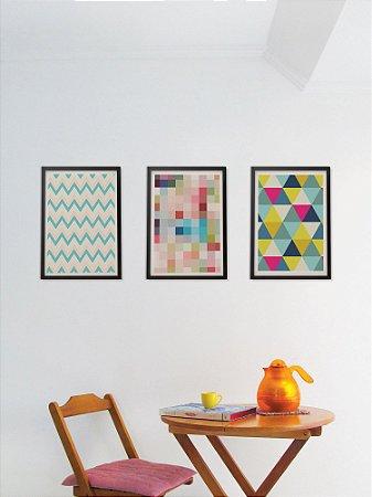 Kit com 3 Posters A3 Textura