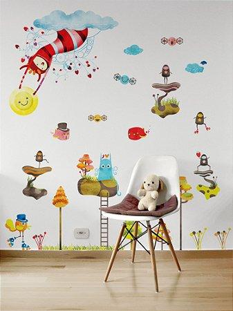 Adesivo de parede infantil Mundo da Lila