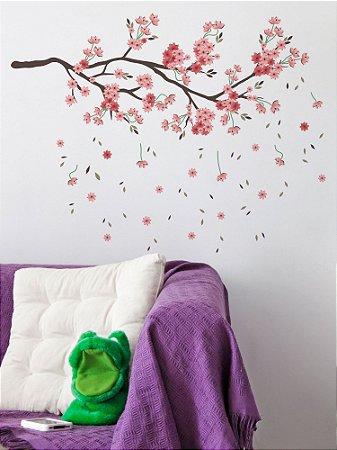 Adesivo de parede Galhos Sakura