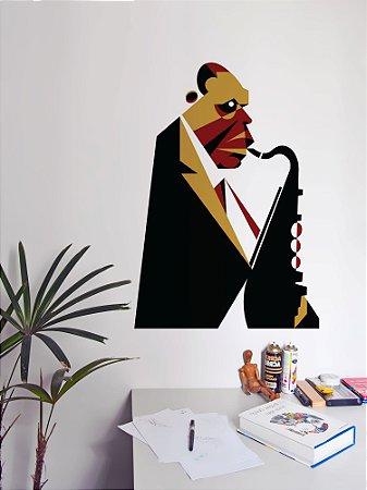 Adesivo de parede Saxofonista