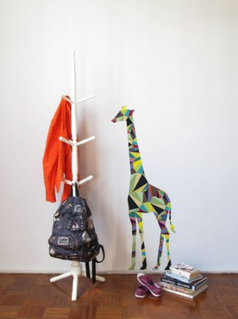 Adesivo de Parede Girafas Geométricas