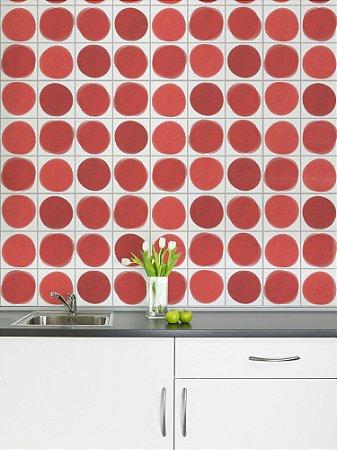 Adesivo de azulejo Manchas Vermelho