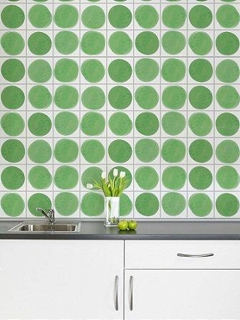Adesivo de azulejo Manchas Verde
