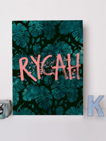 Placa decorativa Rycah