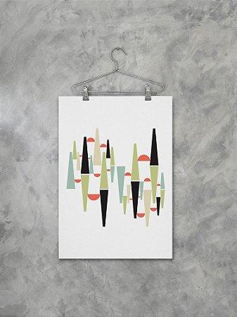 Poster Floresta Gráfica