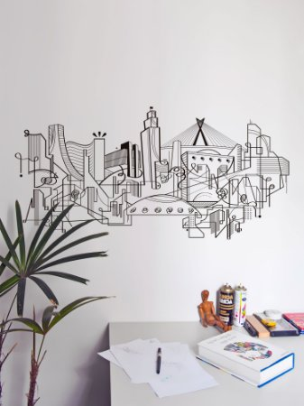 Adesivo de parede Skyline