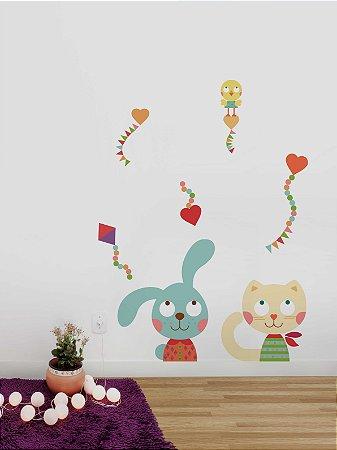 Adesivo de parede Animais Amigos