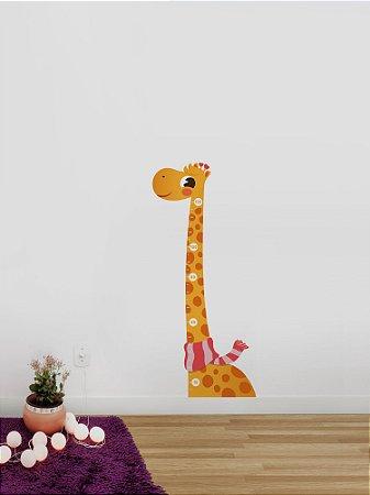 Adesivo de parede infantil Régua Girafa