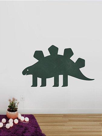 Adesivo de parede lousa Dinossauro Estegossauro