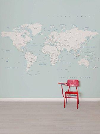 Painel papel de parede adesivo Mapa Ice