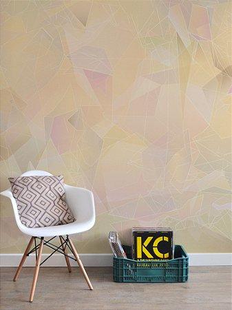 Painel Papel de Parede Adesivo Cristal Gold  Quartz