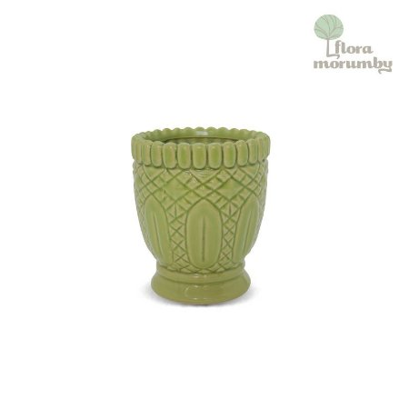 TEA LIGHT CR HAMPTONS CURVES GR 18X16D VERDE CLARO