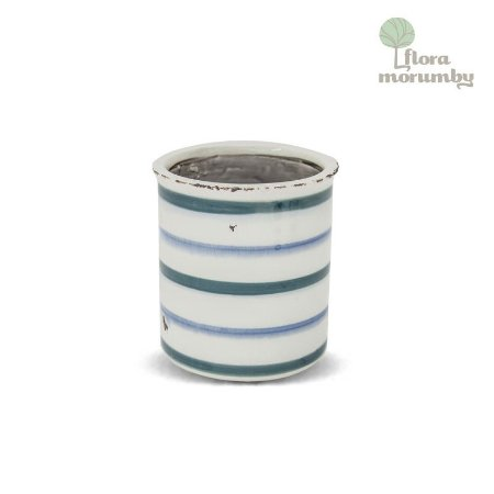 VASO CR SIMPLE LINES MD 13X12D AZUL/BRANCO