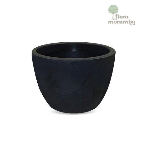 VASO VERONA 80X60CM ANTIQUE PRETO