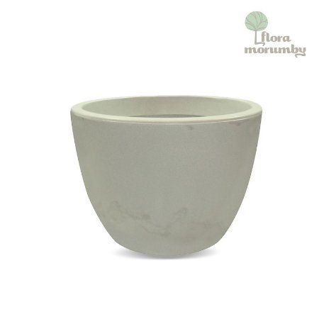 VASO VERONA 70X52CM ANTIQUE BRANCO