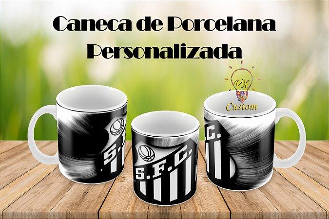 Santos Caneca de Porcelana Personalizada