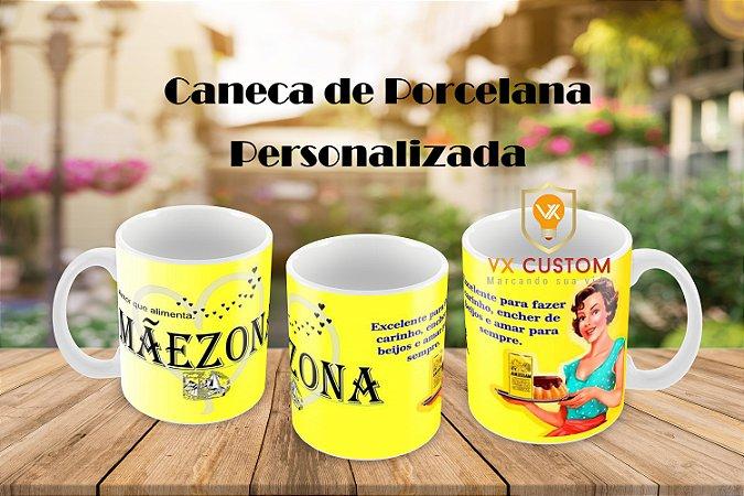 Mãezona Caneca de Porcelana Personalizada