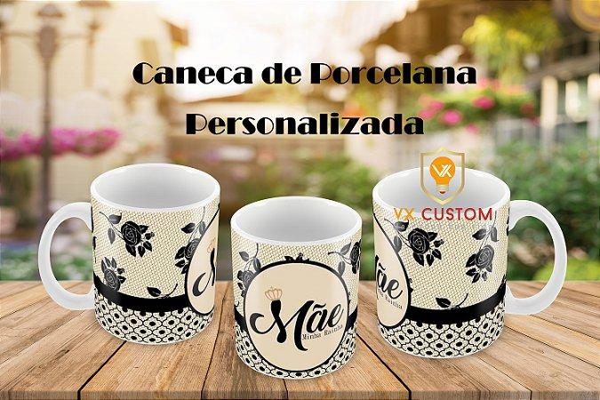Presente Criativo Mãe Minha Rainha Caneca de Porcelana Personalizada
