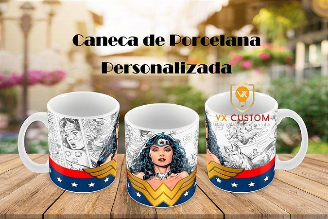 Caneca de Porcelana Mulher Maravilha