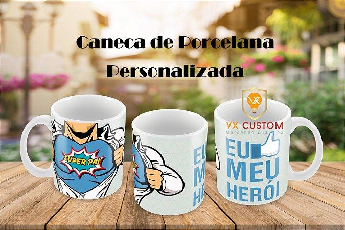 Presente Pai Caneca de Porcelana Personalizada ABC