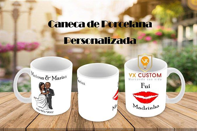 Caneca de Porcelana Padrinhos Cassia