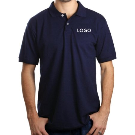 Camiseta Polo Piquet Bordado Grande ABC
