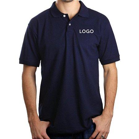 Camiseta Polo Piquet Bordado Grande ABC