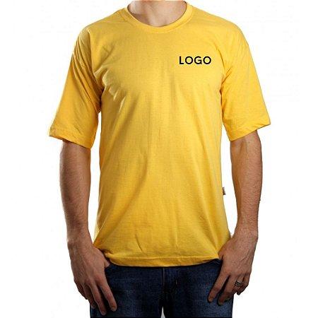 Camiseta 100% Algodão Fio 30.1 penteado Bordado