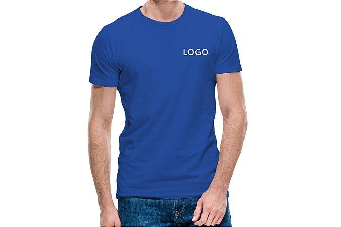 Camiseta 100% algodão fio 30.1 penteada Bordada com Logotipo Uniformes Santo André