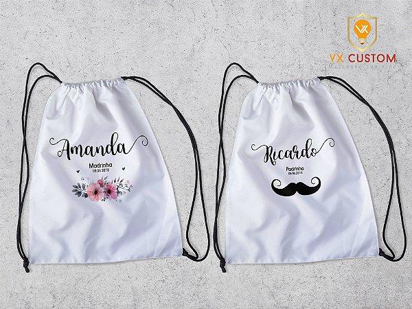 Mochila Saco Personalizada Casamento Embalagem