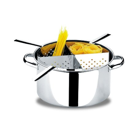 Espagueteira 4 divisórias Savoy 31X16,5 cm 10 litros - Brinox