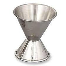 Dosador de Inox Duplo com Medidas Internas - 30/50 ml