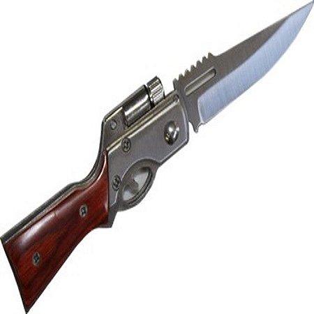 Canivete Automático Mod. Espingarda com Lanterna A166