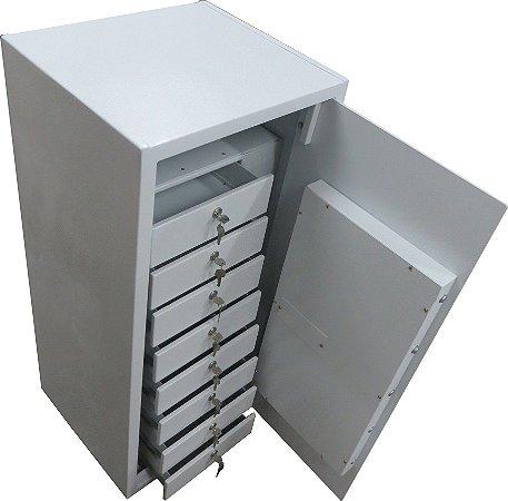 Cofre Eletrônico Master File 100 c/ 8 Gavetas com Chave