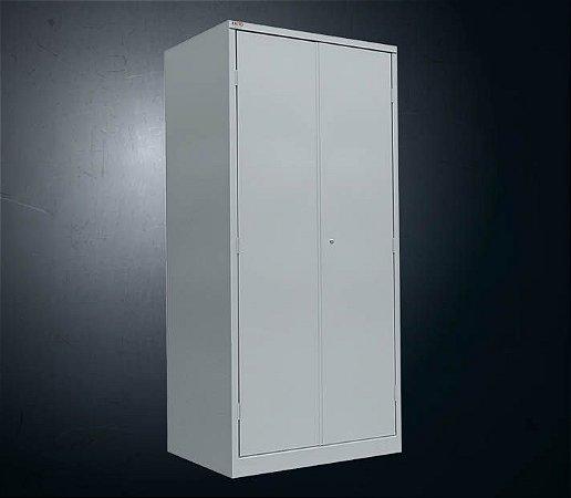 Armário 2 Portas PA-120 fechadura c/ 03 prat. reguláveis e 01 fixa #26 (198x120x40 cm) - cinza