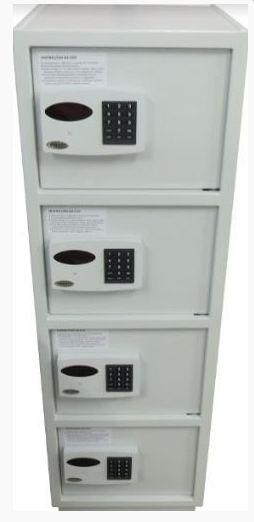 Cofre Eletrônico Digital com 4 Portas Pequenas Separadas  Mod. Everest