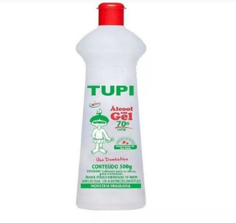 Álcool Gel para Mãos 70% 500MG (1/5 Litro) Ação antisséptica contra vírus e bactérias (Pronta Entrega)