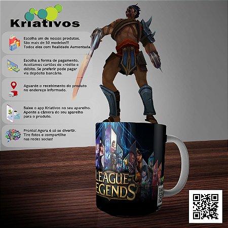 Caneca League of Legends com Realidade Aumentada