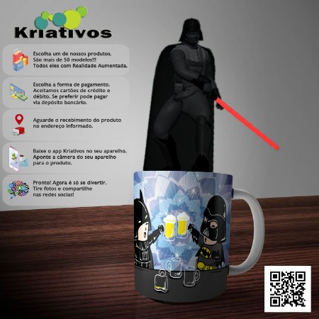 Caneca Bat Vader com Realidade Aumentada