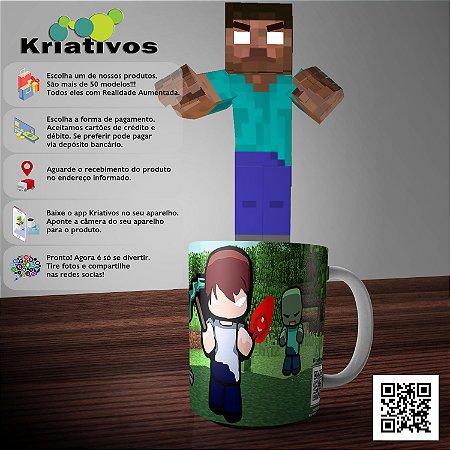 Caneca Herobrine Minecraft com Realidade Aumentada