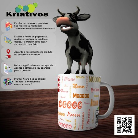 Caneca Vaca com Realidade Aumentada