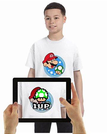Camiseta Mario Cogumelo com Realidade Aumentada