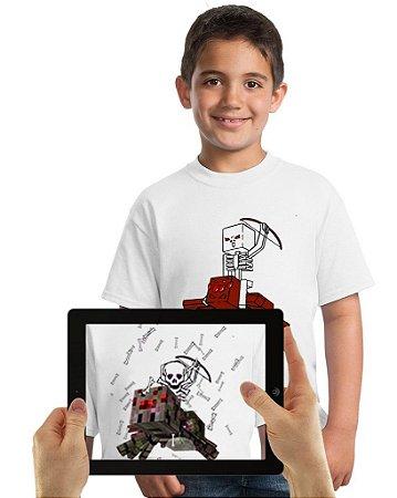 Camiseta Esqueleto com Realidade Aumentada