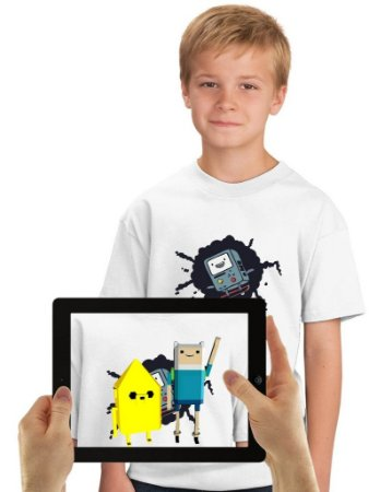Camiseta BMO com Realidade Aumentada